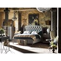 Universal Curated Halston Upholstered Queen Bed with Winged Headboard