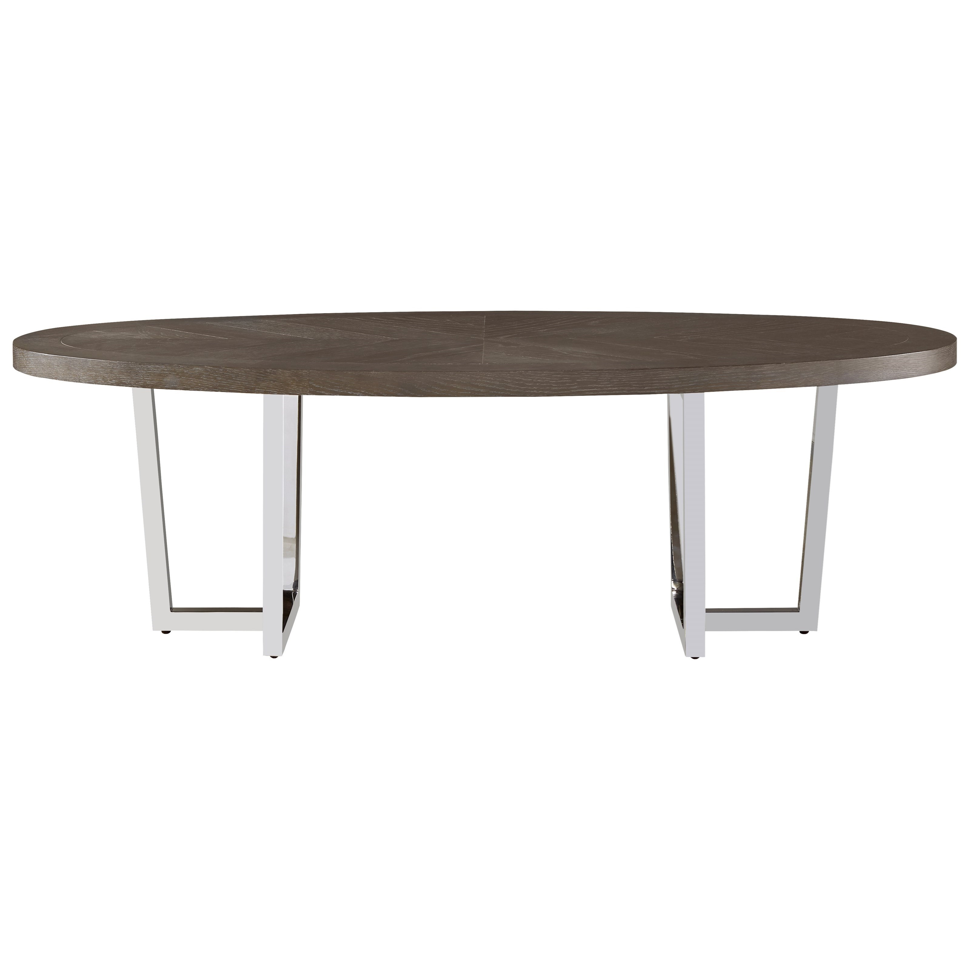 Universal Curated Dorchester Oval Cocktail Table - Item Number: 553801