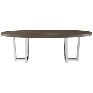 Morris Home Furnishings Curated Dorchester Oval Cocktail Table