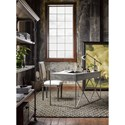 Morris Home Furnishings Curated Pembroke Metal Desk with Drop-Front Drawer