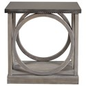 Universal Curated Carlton End Table with Metal Top