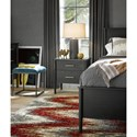 Universal Curated Langley Two Drawer Nightstand with Stone Top
