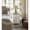 Universal Curated Latham Three Drawer Nightstand with Stone Top