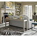 Universal Curated Griffin Console Table with Diamond Pattern Top