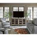 Universal Curated Paxton Industrial Four Door TV Console