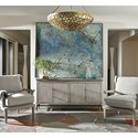 Universal Curated Sebastian Four Door TV Console with Faux Concrete Top