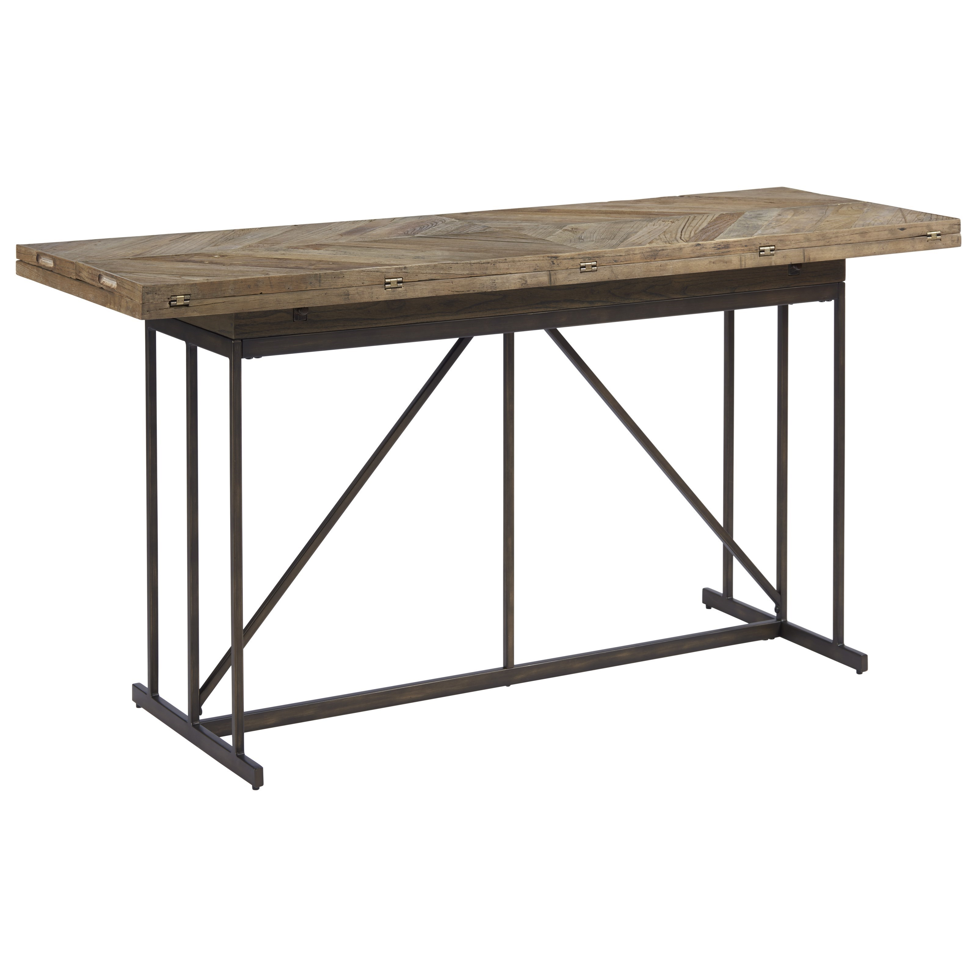 newest 3e762 1a440 Curated Langston Console Table with Parquet Pattern Top by OCONNOR DESIGNS  at Sprintz Furniture