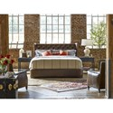 Universal Curated Carlisle King Bed in Aged Whiskey Leather