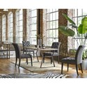 Universal Curated Ainsley 64 Inch Dining Table with Brushed Bronze Base
