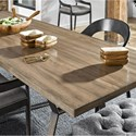 Universal Curated Ainsley 92 Inch Dining Table with Brushed Bronze Base