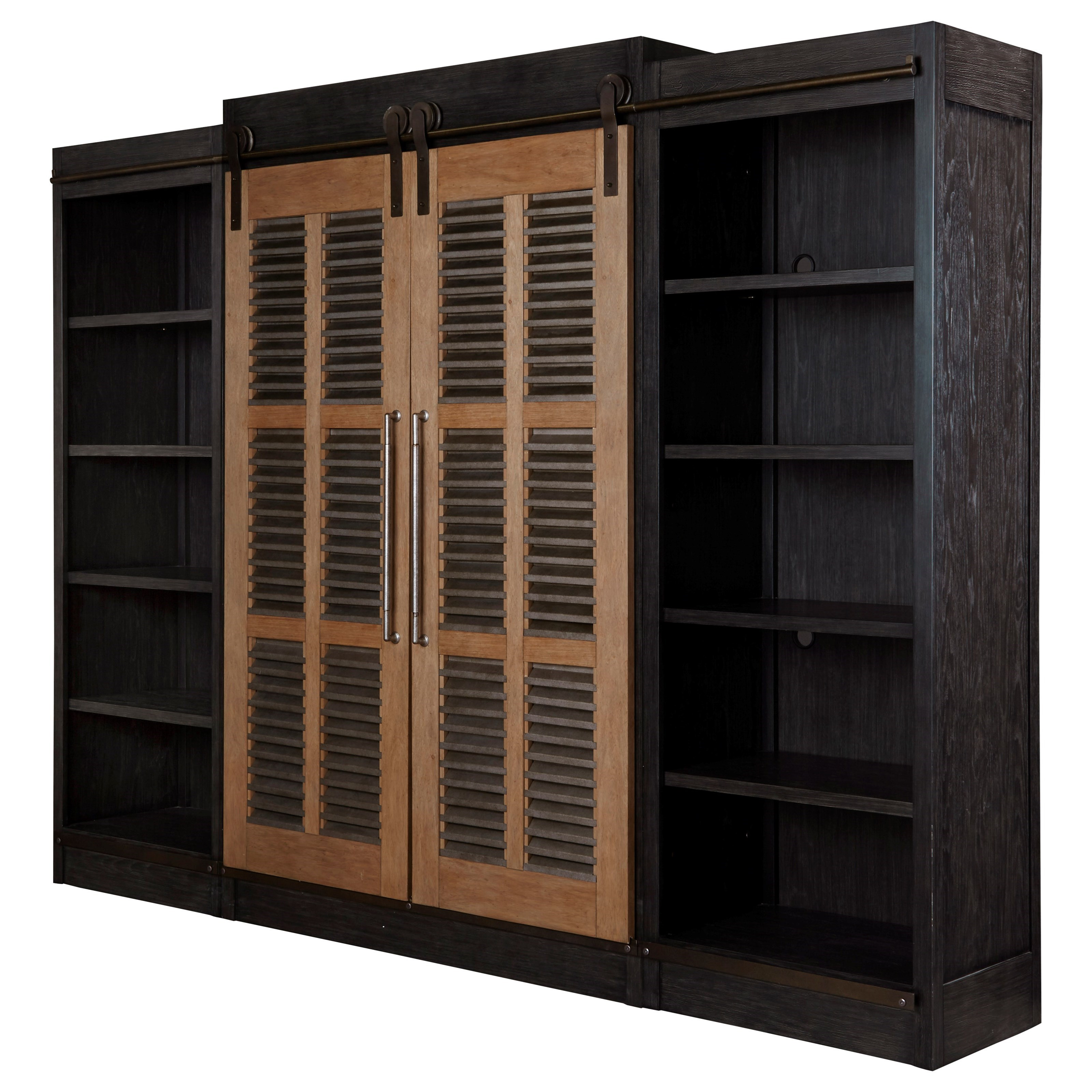Farmhouse Sliding Door Console Cabinet: Universal Curated Darcy Entertainment Cabinet With Sliding