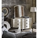 Universal Curated Amity Drawer Dresser with Shaped Fronts
