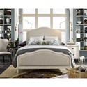 Universal Curated King Amity Bed with Upholstered Headboard and Footboard