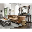 Universal Duncan Traditional Sofa in Diamond Tufted Leather