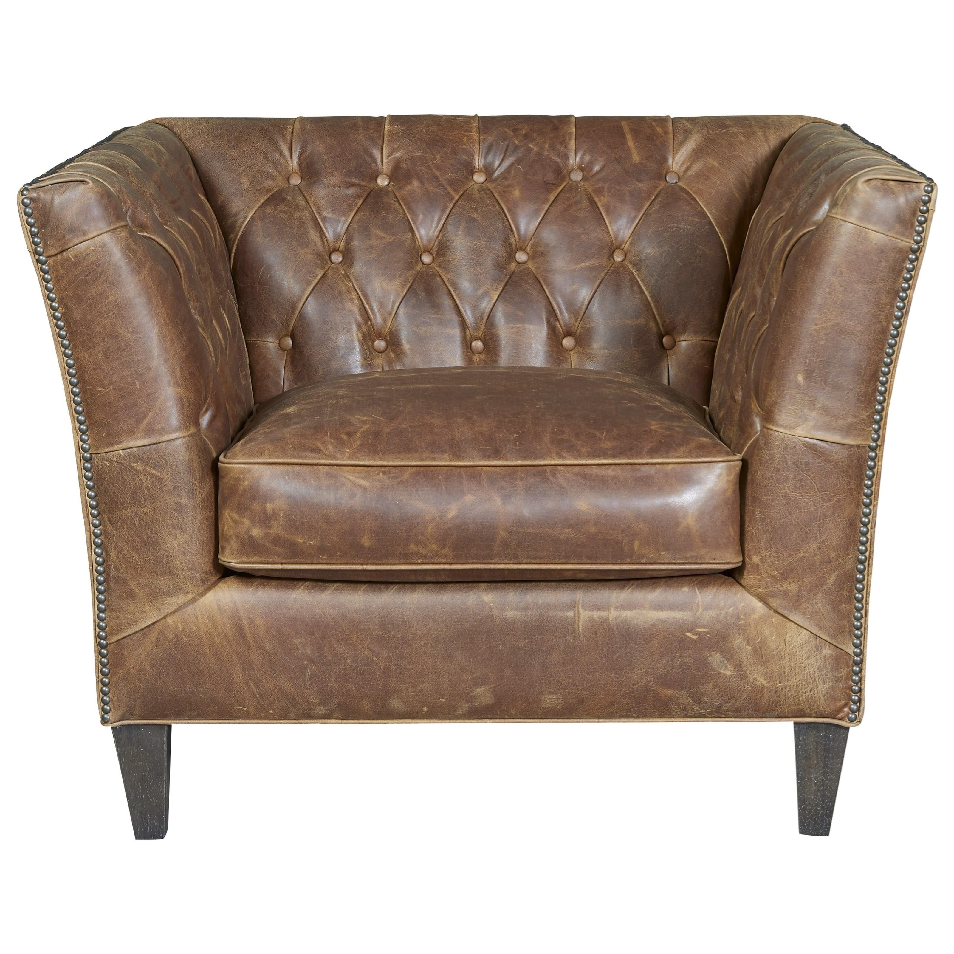 Leather Duncan Chair by Universal at Baer's Furniture