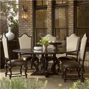Great Rooms Castella 6 Piece Toulon Dining Table Set