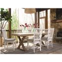 Morris Home Furnishings Great Rooms Vertical Slat Side Dining Chair