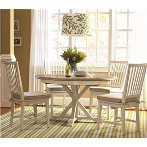 Universal Curated 5 Piece Dining Set with Slat Back