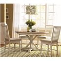 Universal Great Rooms 5 Piece Dining Set with Garden Breakfast Table and Slat Back Chairs