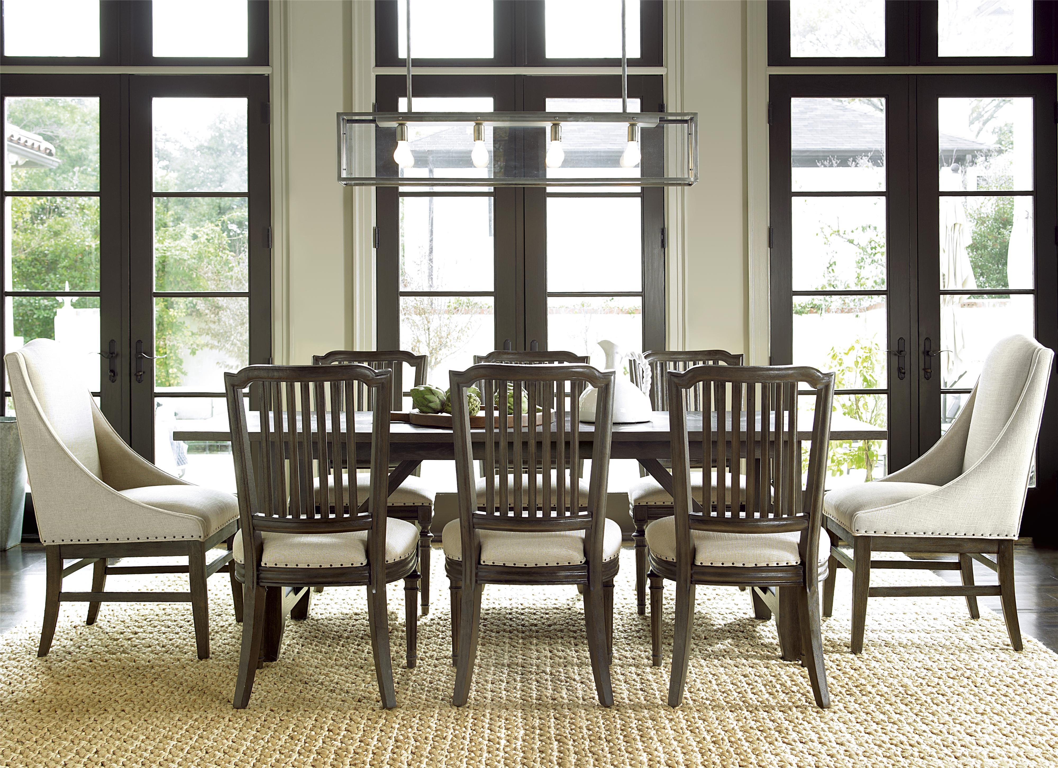 Universal Great Rooms - Berkeley 3 9 Piece Dining Set - Item Number: 311751+2x39+6x32