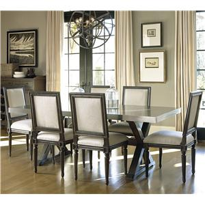Universal Great Rooms - Berkeley 3 7 Piece Dining Set