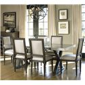 Universal Great Rooms - Berkeley 3 7 Piece Brownstone Dining Set with Flatiron Table