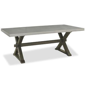 Morris Home Furnishings Curated Flatiron Table