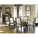 Morris Home Furnishings Great Rooms - Berkeley 3 Flatiron Table with Trestle Base