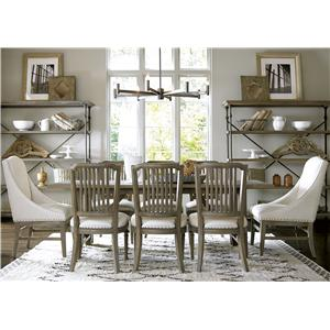 Universal Curated 9 Piece Dining Set