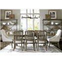 Universal Great Rooms - Berkeley 3 9 Piece Dining Set - Item Number: 316751+2x39+6x32