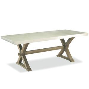 Morris Home Furnishings Great Rooms - Berkeley 3 Flatiron Table