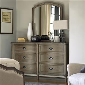 Morris Home Furnishings Curated Drawer Dresser and Mirror Set