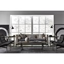 Universal Hartley Sofa with Tufted Contrasting Seat Cushion