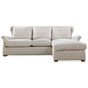 Great Rooms Haven Sofa Chaise with Ottoman
