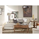 Morris Home Furnishings Haven Sofa Chaise with Ottoman