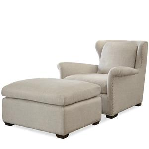 Morris Home Furnishings Haven Transitional Chair and Ottoman Set