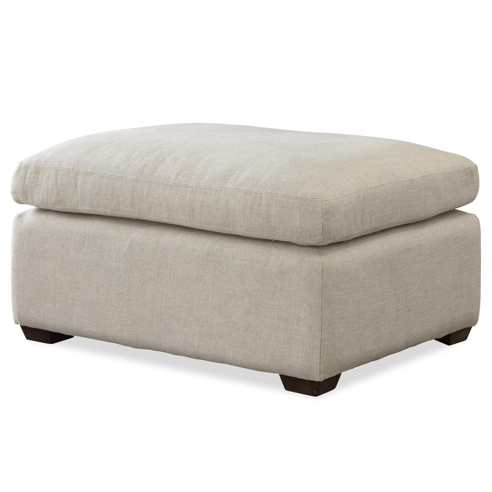 Universal Haven Transitional Ottoman With Block Feet