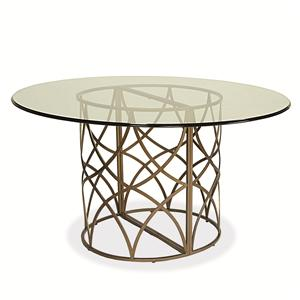 Universal Latitude Round Glass Table