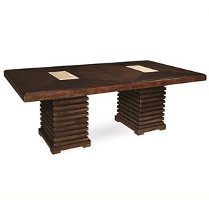 Universal Latitude Double Pedestal Dining Table