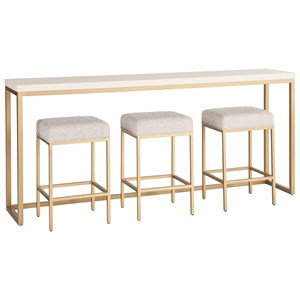 Console Table with 3 Stools