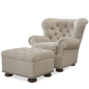 Morris Home Furnishings Maxwell Chair and Ottoman Set
