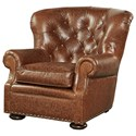 Morris Home Furnishings Maxwell Traditional Chair with Rolled Arms