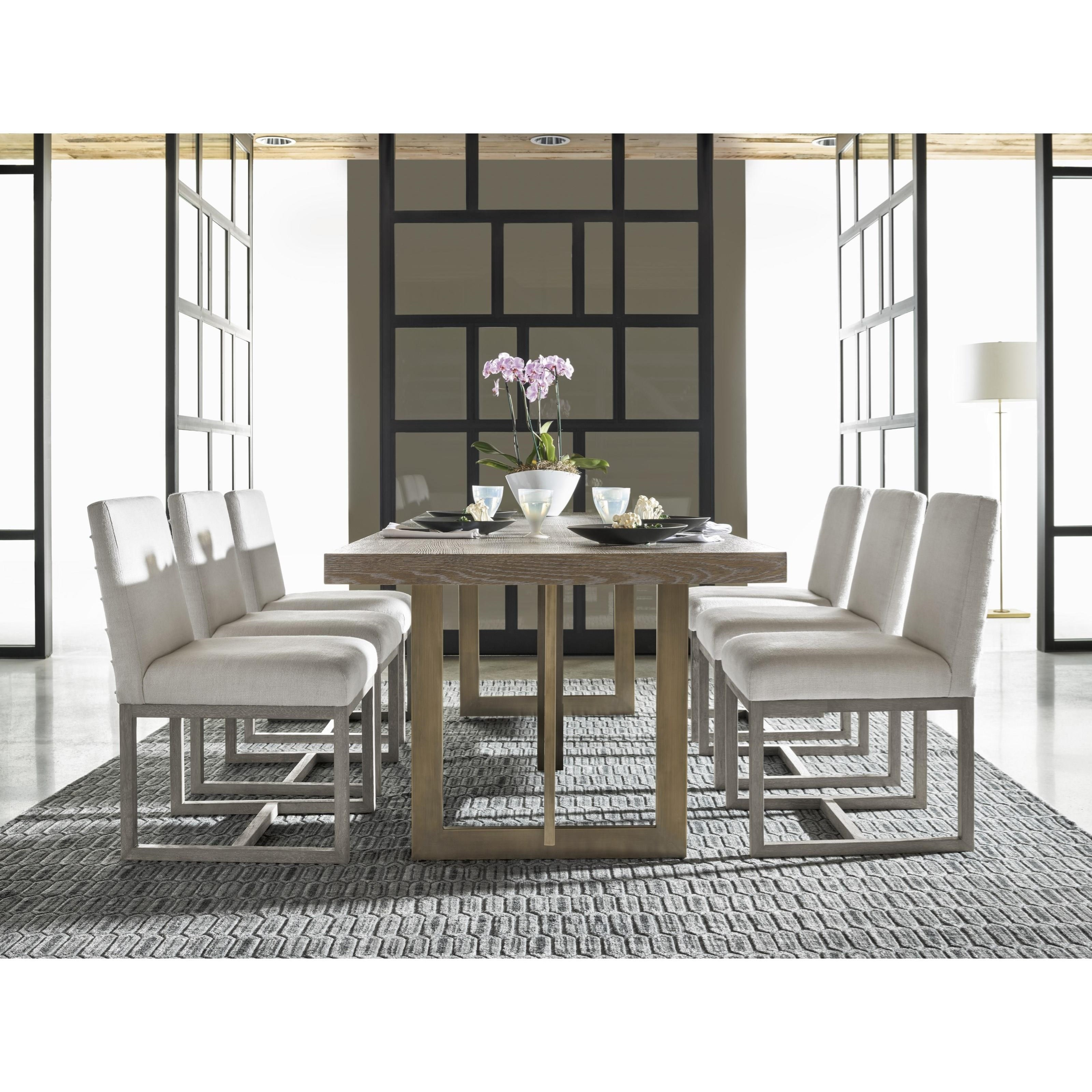 Universal Dining Room Furniture: Universal Modern Jamison Dining Table With Bronze Base