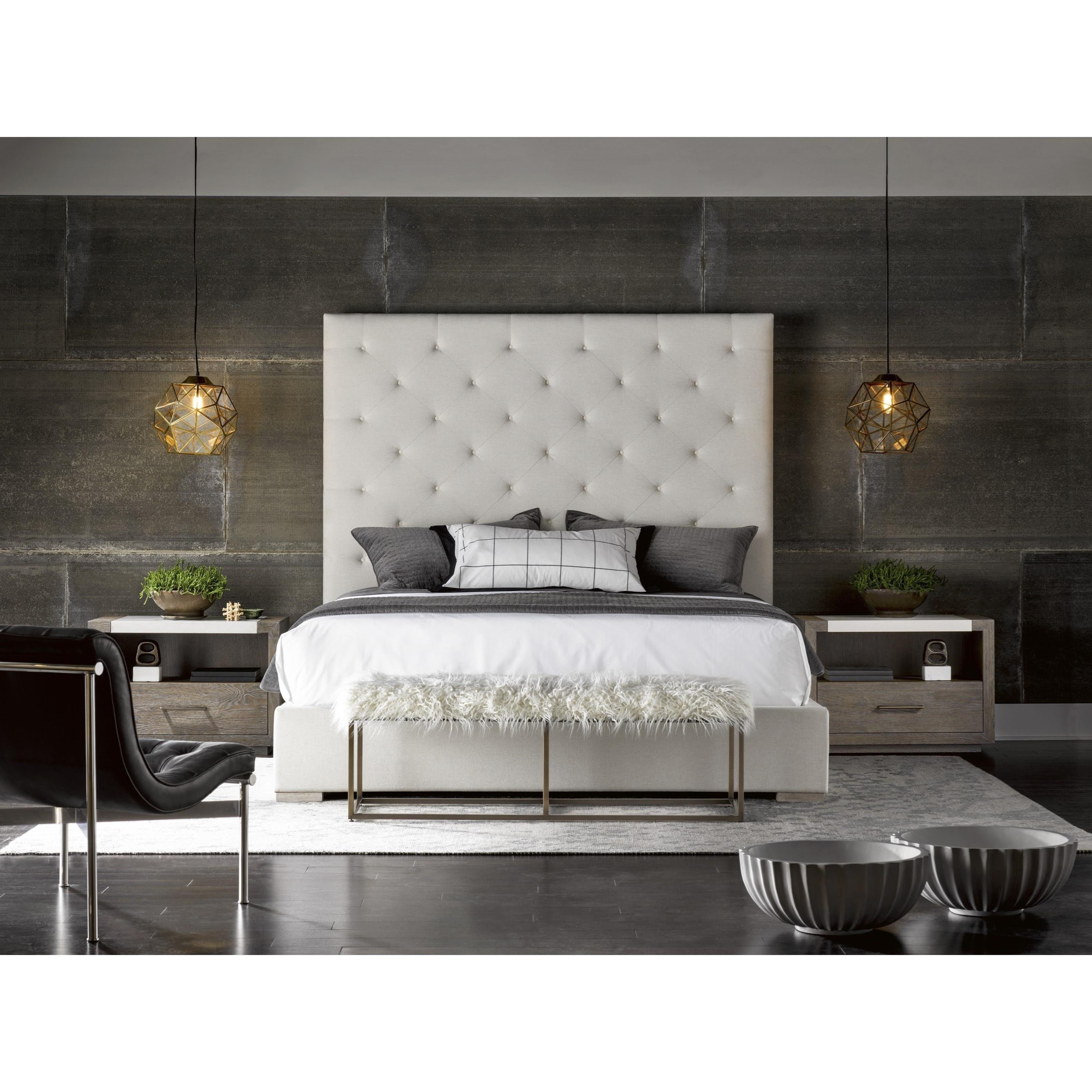 Universal Modern Brando Bed With Tufted Headboard