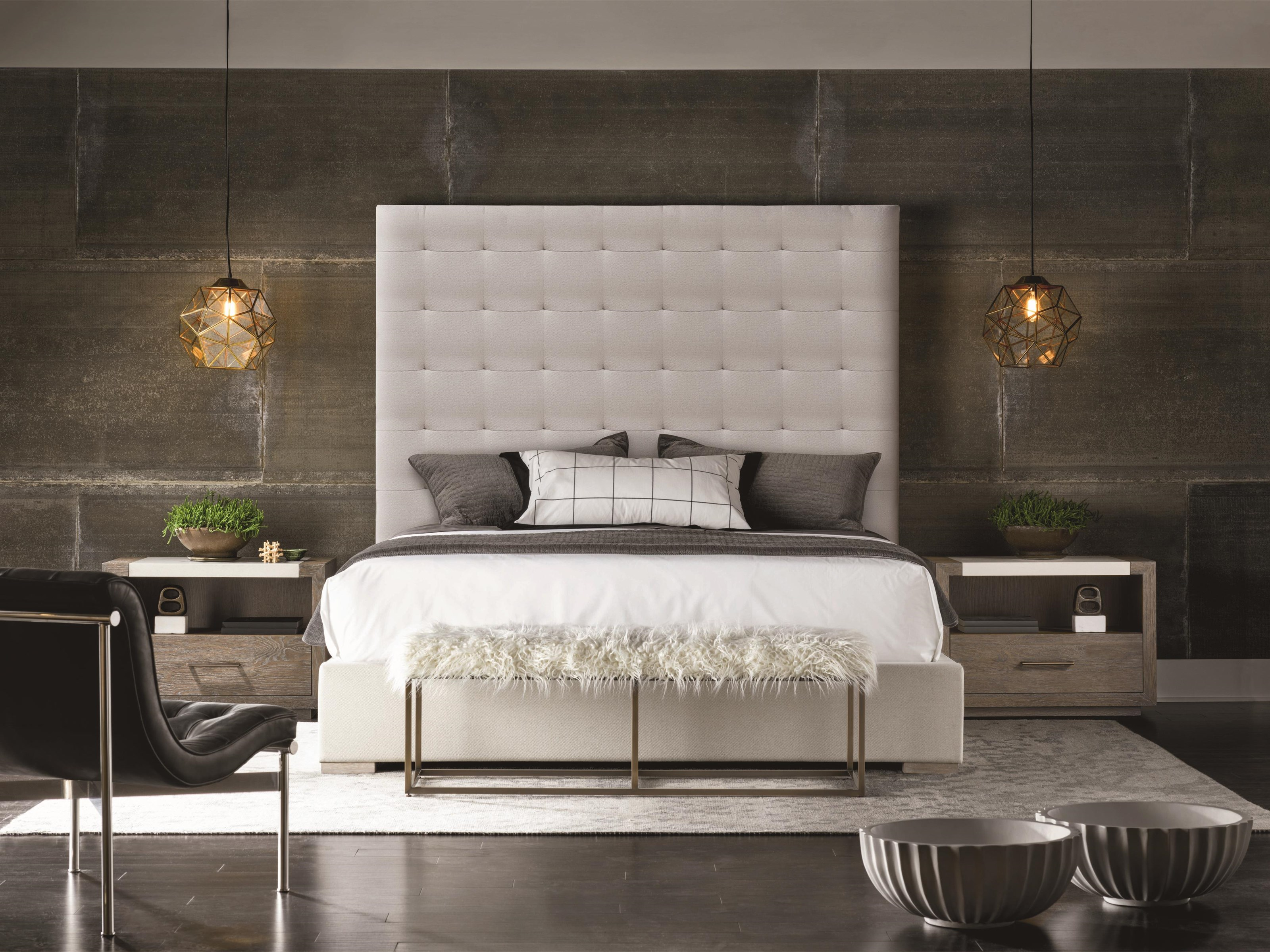 Universal Modern 643220b Brando Bed With Tufted Headboard