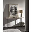 Great Rooms Modern Wilder Console Table with Bronze Base