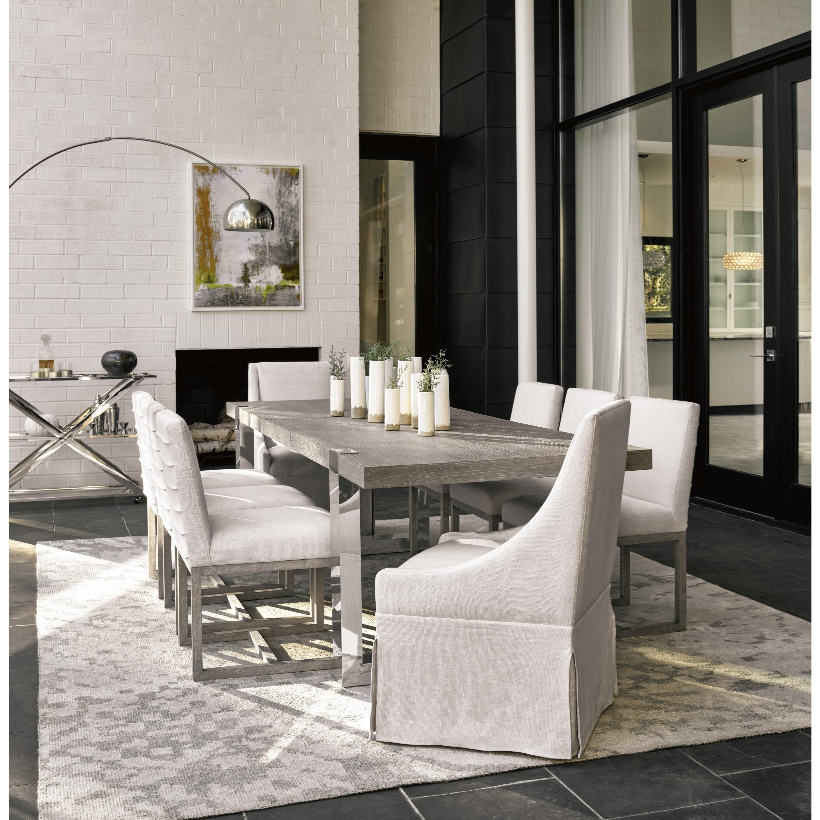 Universal Modern Townsend Castered Upholstered Dining