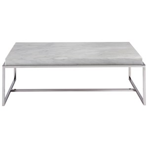 Universal Modern Cocktail Table with Stone Top
