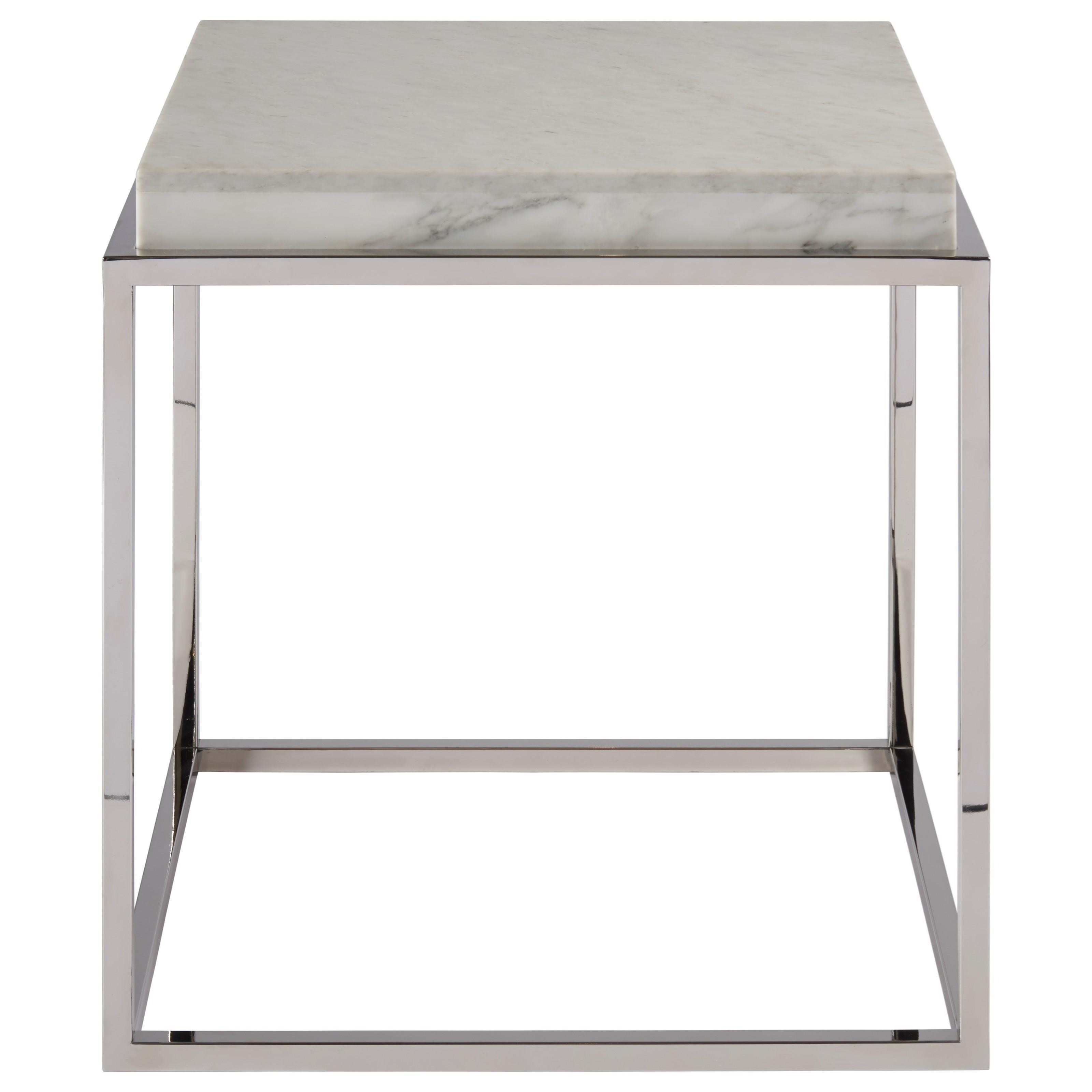 Picture of: Universal Modern 645832 Contemporary End Table With Marble Stone Top Hudson S Furniture End Tables