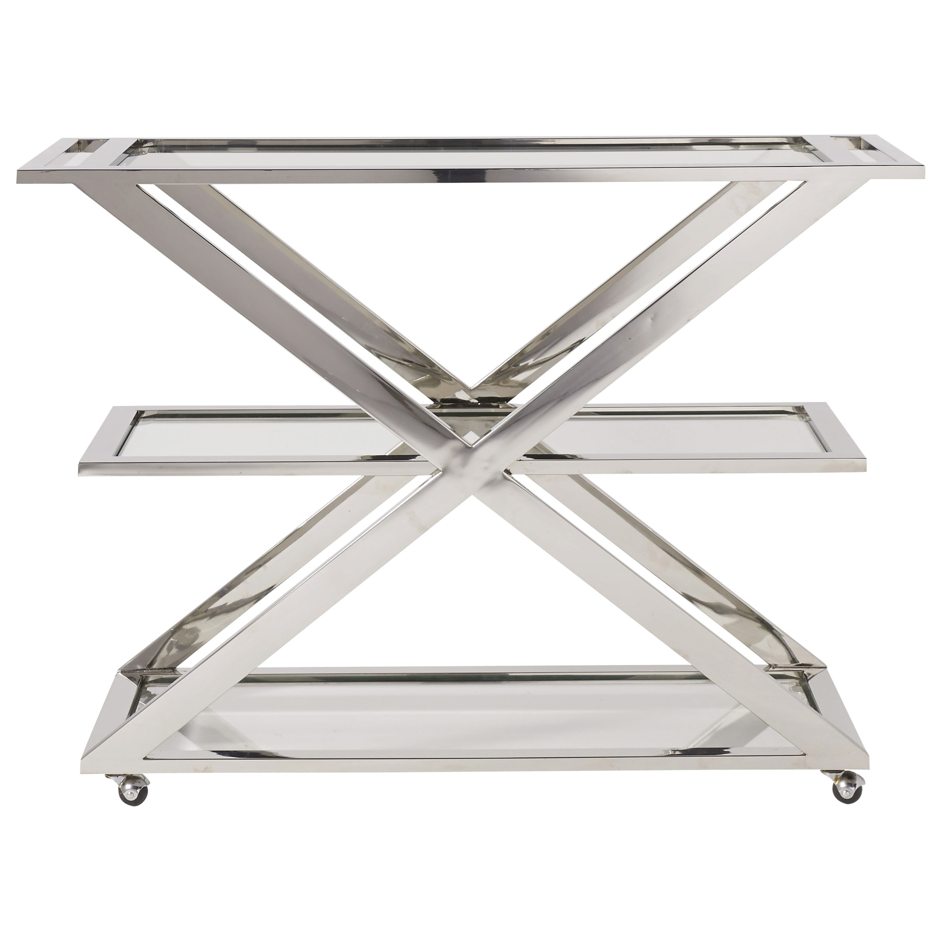 Modern Draper Bar Cart by Universal at Stoney Creek Furniture